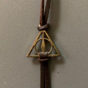 Harry Potter Deathly Hallows Leather Bracelet